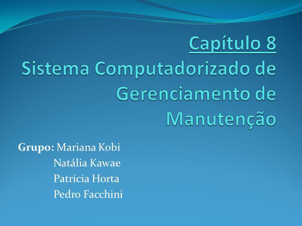 Sistema Computadorizado de Gerenciamento de Manutenção O sistema Computadorizado de Gerenciamento de Manutenção (Computerized Maintenance Management Systems – CMMS) é utilizado para auxiliar na melhoria da manutenção