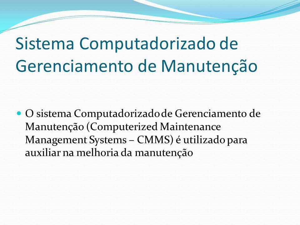 Sistema Computadorizado de Gerenciamento de Manutenção O sistema Computadorizado de Gerenciamento de Manutenção (Computerized Maintenance Management S