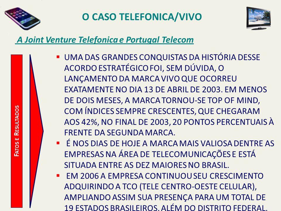 O CASO TELEFONICA/VIVO A Joint Venture Telefonica e Portugal Telecom F ATOS E R ESULTADOS UMA DAS GRANDES CONQUISTAS DA HISTÓRIA DESSE ACORDO ESTRATÉG