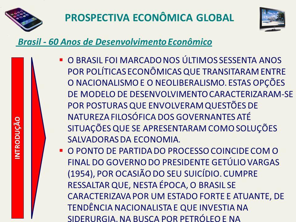 PROSPECTIVA ECONÔMICA GLOBAL Brasil - 60 Anos de Desenvolvimento Econômico INTRODUÇÃO O BRASIL FOI MARCADO NOS ÚLTIMOS SESSENTA ANOS POR POLÍTICAS ECO