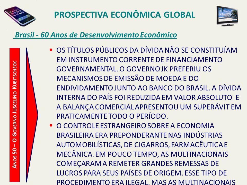PROSPECTIVA ECONÔMICA GLOBAL Brasil - 60 Anos de Desenvolvimento Econômico A NOS 50 – O G OVERNO J USCELINO K UBITSCHECK OS TÍTULOS PÚBLICOS DA DÍVIDA