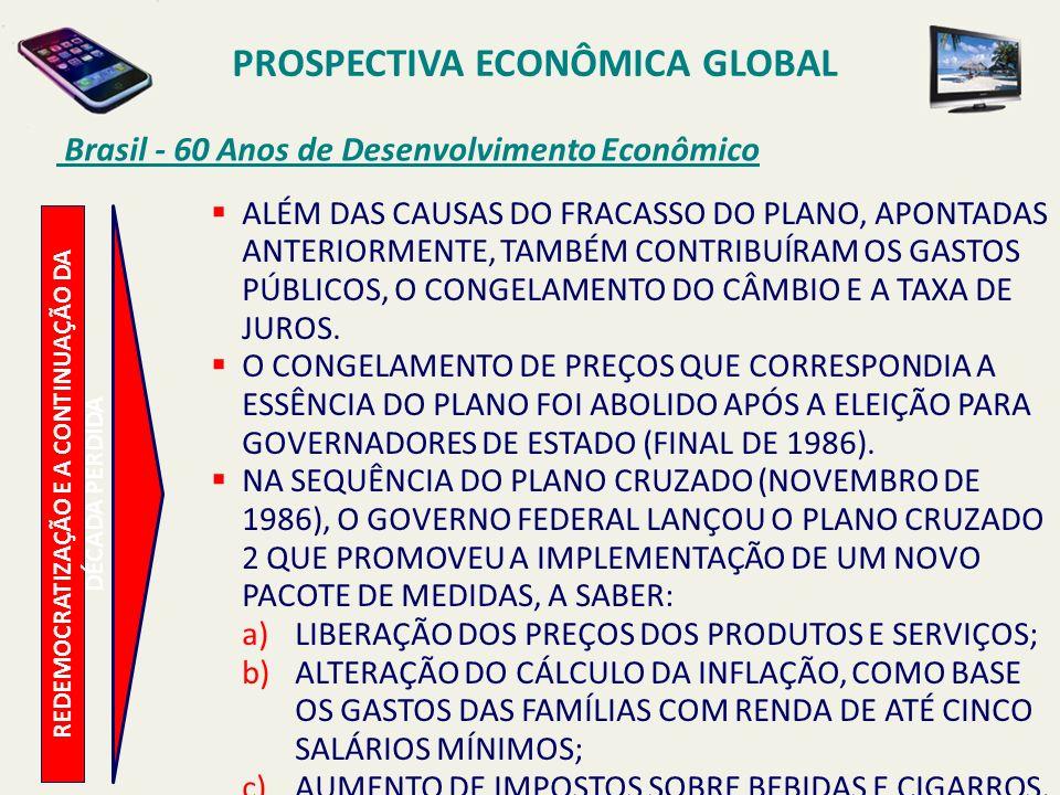 PROSPECTIVA ECONÔMICA GLOBAL Brasil - 60 Anos de Desenvolvimento Econômico REDEMOCRATIZAÇÃO E A CONTINUAÇÃO DA DÉCADA PERDIDA ALÉM DAS CAUSAS DO FRACA