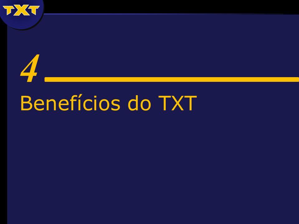 4 Benefícios do TXT