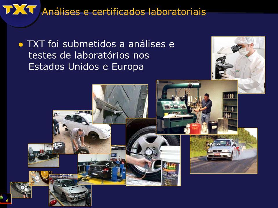 Análises e certificados laboratoriais TXT foi submetidos a análises e testes de laboratórios nos Estados Unidos e Europa