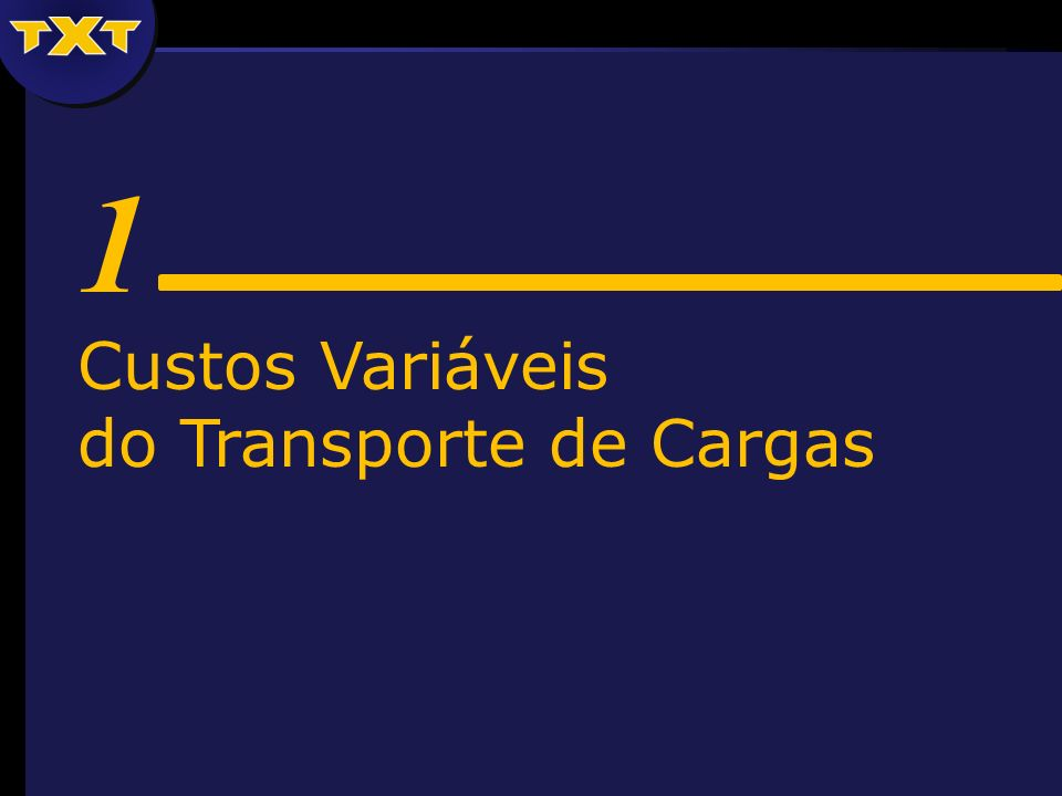 1 Custos Variáveis do Transporte de Cargas