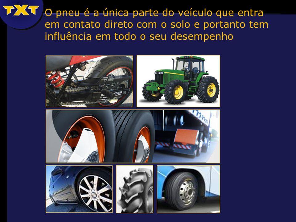 O pneu é a única parte do veículo que entra em contato direto com o solo e portanto tem influência em todo o seu desempenho