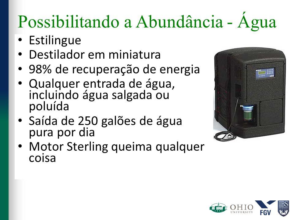 Possibilitando a Abundância - Água Estilingue Destilador em miniatura 98% de recuperação de energia Qualquer entrada de água, incluindo água salgada o