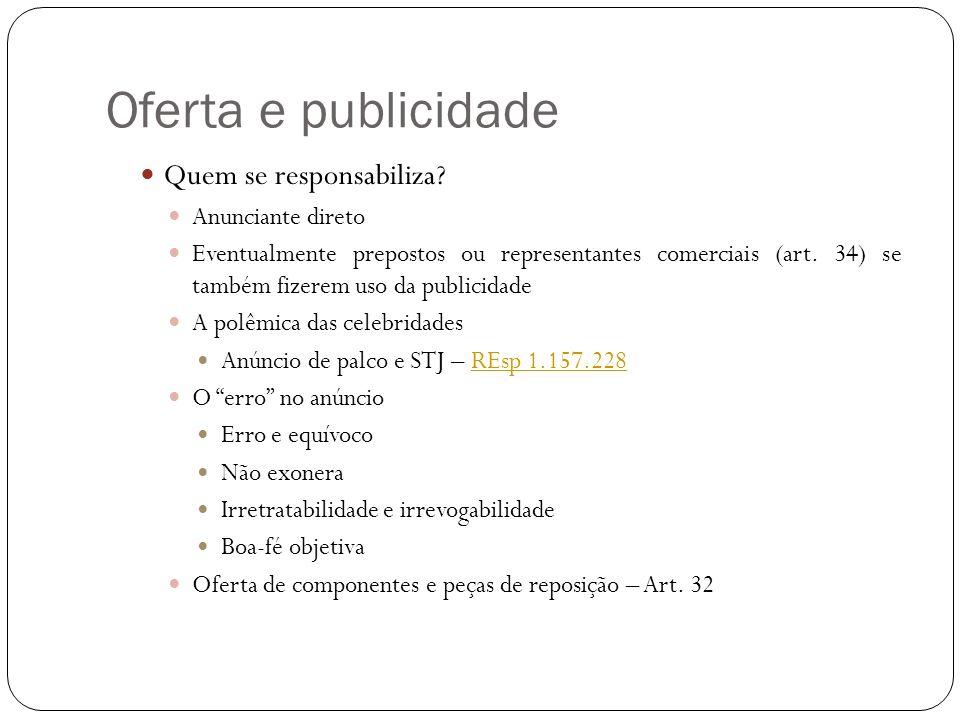 Oferta e publicidade Dever de informar (Art.