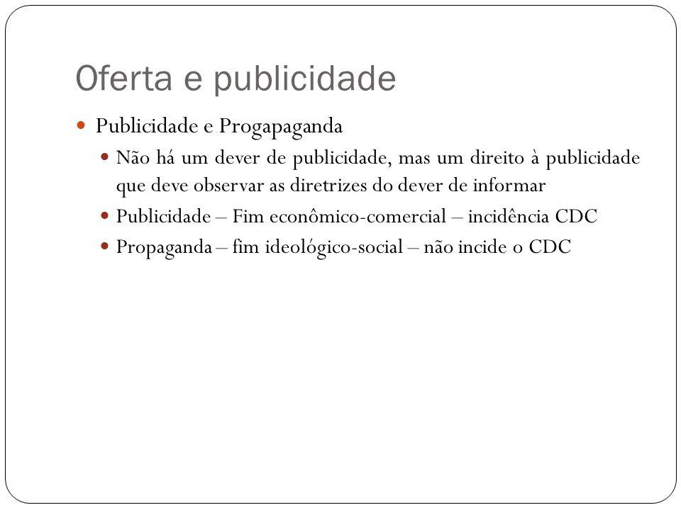 Oferta e publicidade Princípios adotados pelo Código quanto à publicidade Princípio da identificação da publicidade (art.