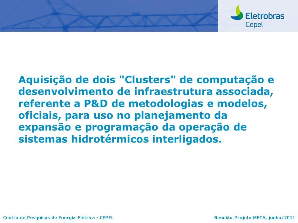Centro de Pesquisas de Energia Elétrica - CEPELReunião Projeto META, junho/2011 Aquisição de dois