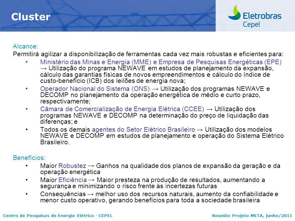 Centro de Pesquisas de Energia Elétrica - CEPELReunião Projeto META, junho/2011 Alcance: Permitirá agilizar a disponibilização de ferramentas cada vez