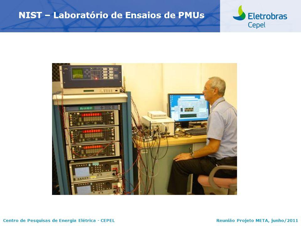 Centro de Pesquisas de Energia Elétrica - CEPELReunião Projeto META, junho/2011 NIST – Laboratório de Ensaios de PMUs