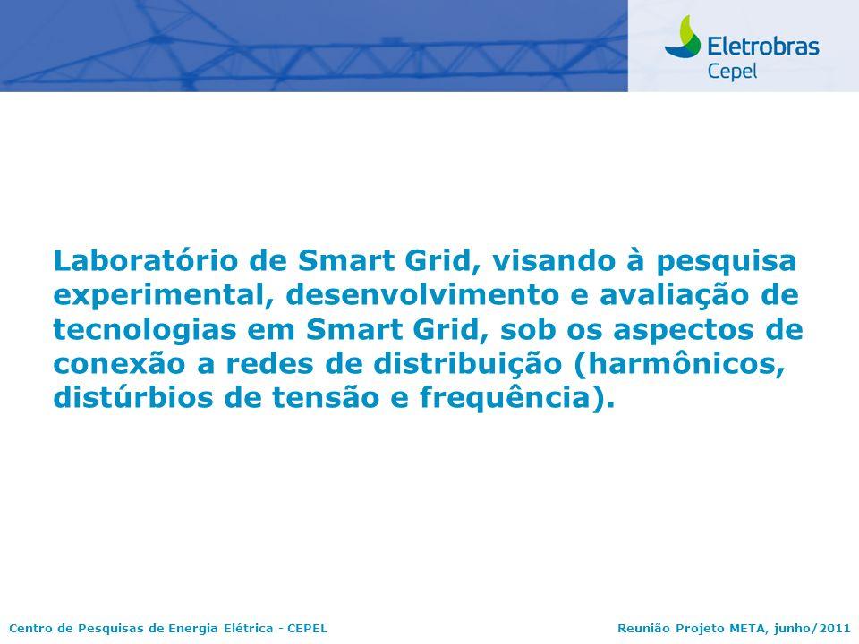 Centro de Pesquisas de Energia Elétrica - CEPELReunião Projeto META, junho/2011 Laboratório de Smart Grid, visando à pesquisa experimental, desenvolvi
