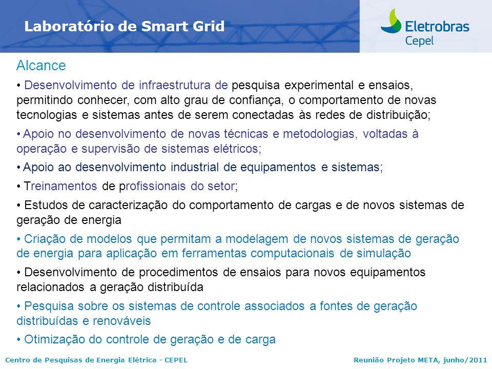 Centro de Pesquisas de Energia Elétrica - CEPELReunião Projeto META, junho/2011 Laboratório de Smart Grid Alcance Desenvolvimento de infraestrutura de