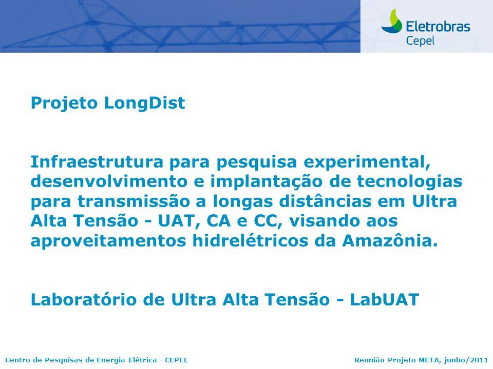 Centro de Pesquisas de Energia Elétrica - CEPELReunião Projeto META, junho/2011 Projeto LongDist Infraestrutura para pesquisa experimental, desenvolvi