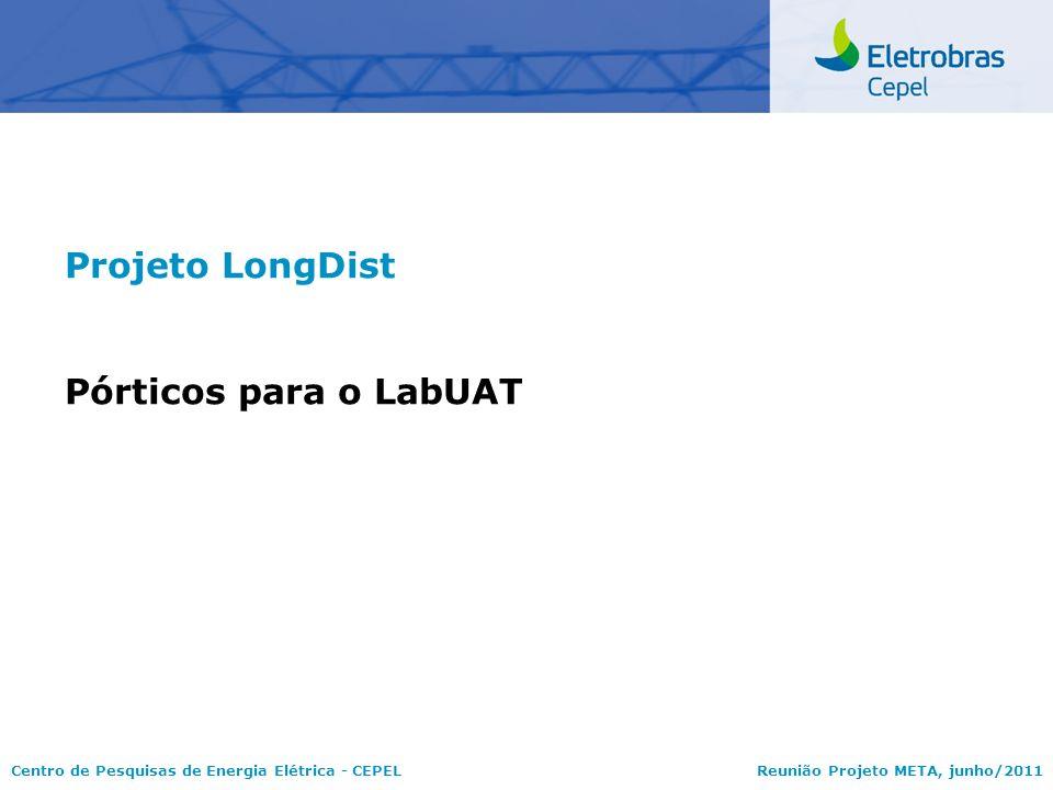 Centro de Pesquisas de Energia Elétrica - CEPELReunião Projeto META, junho/2011 Projeto LongDist Pórticos para o LabUAT