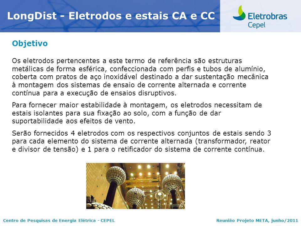 Centro de Pesquisas de Energia Elétrica - CEPELReunião Projeto META, junho/2011 Objetivo Os eletrodos pertencentes a este termo de referência são estr