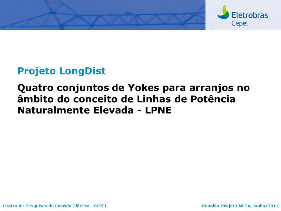 Centro de Pesquisas de Energia Elétrica - CEPELReunião Projeto META, junho/2011 Projeto LongDist Quatro conjuntos de Yokes para arranjos no âmbito do
