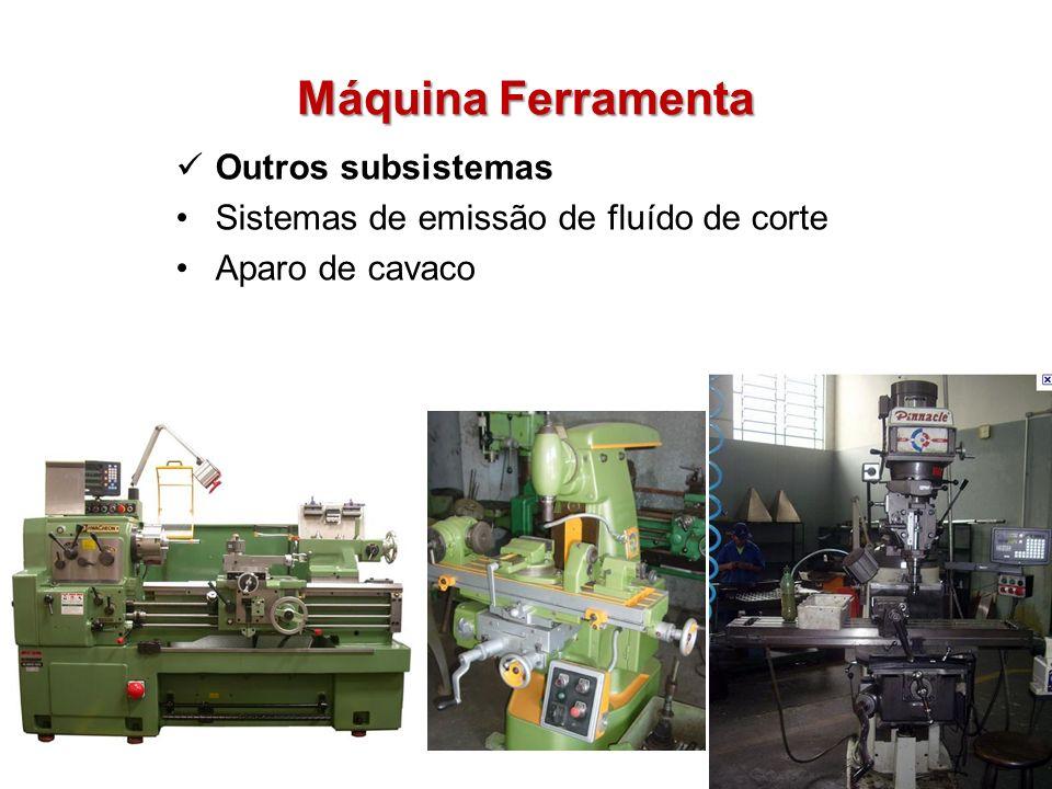 Máquina Ferramenta Outros subsistemas Sistemas de emissão de fluído de corte Aparo de cavaco