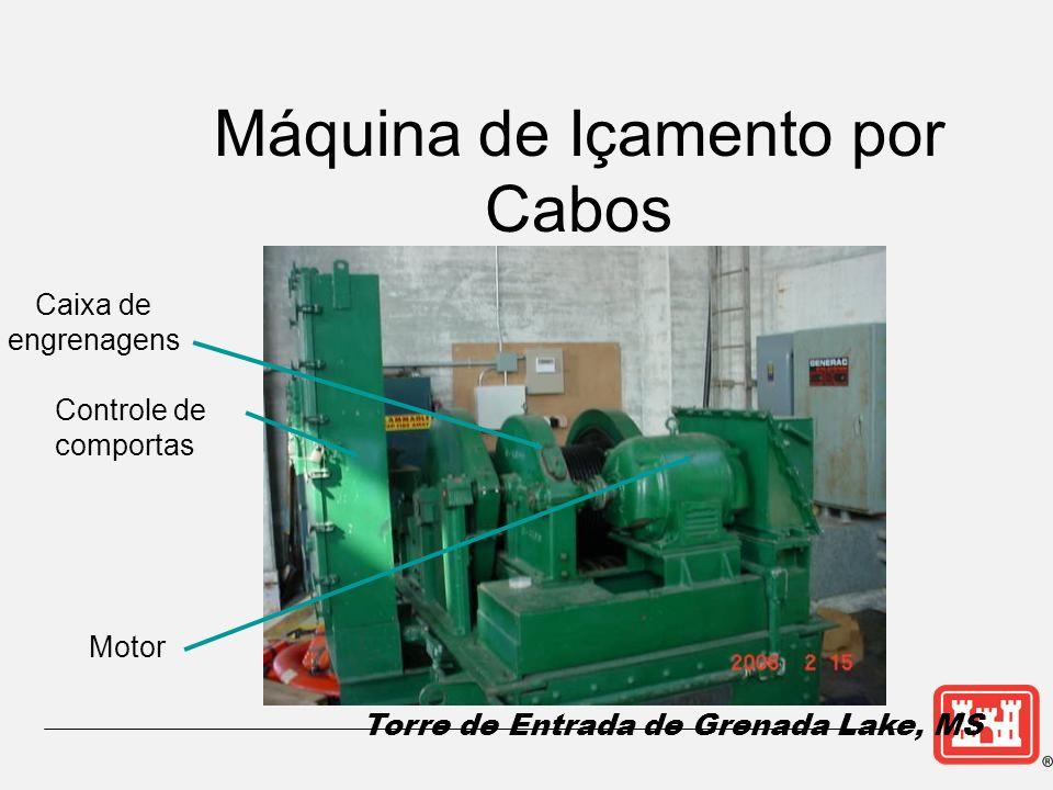 Caixa de engrenagens Controle de comportas Máquina de Içamento por Cabos Motor Torre de Entrada de Grenada Lake, MS
