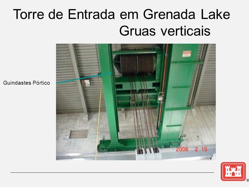 Guindastes Pórtico Torre de Entrada em Grenada Lake Gruas verticais