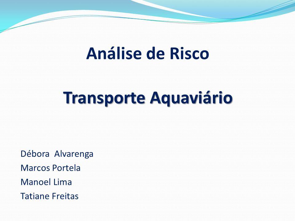 Transporte Aquaviário Análise de Risco Transporte Aquaviário Débora Alvarenga Marcos Portela Manoel Lima Tatiane Freitas