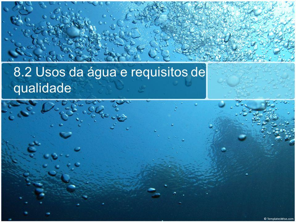 Principais poluentes da água Nutrientes: O excesso de nutrientes pode levar ao crescimento excessivo de alguns organismos aquáticos.