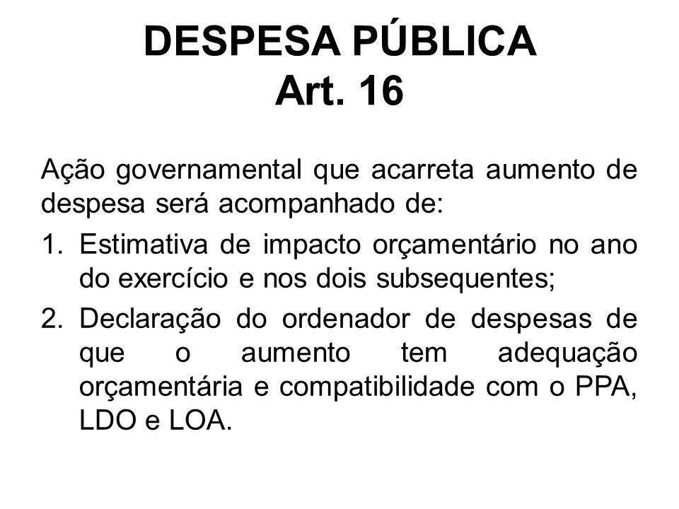 DESPESA PÚBLICA Art.