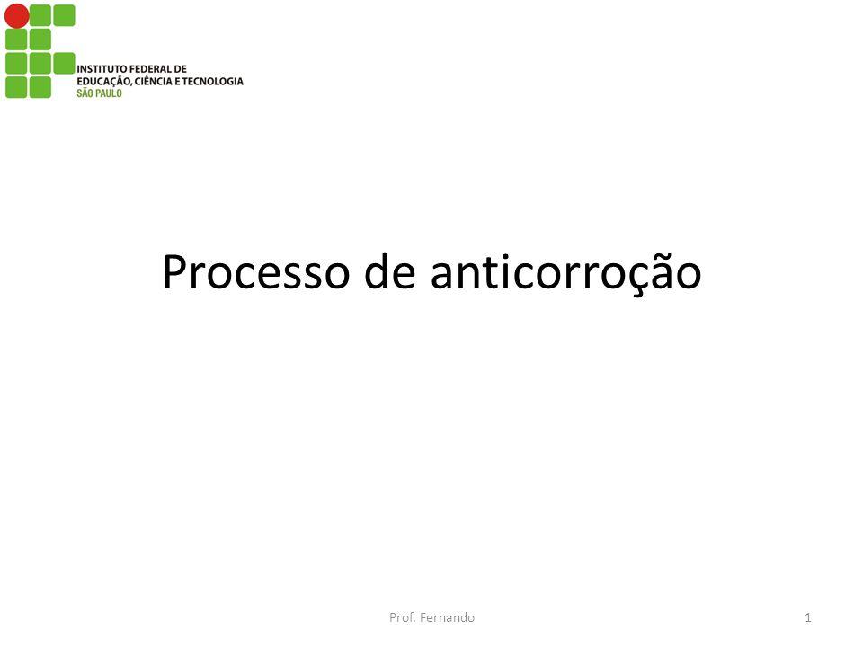 Processo de anticorroção Prof. Fernando1