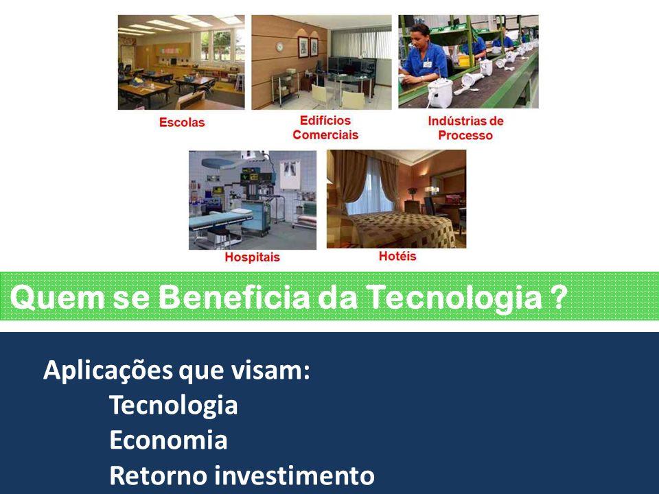 Quem se Beneficia da Tecnologia ? Aplicações que visam: Tecnologia Economia Retorno investimento