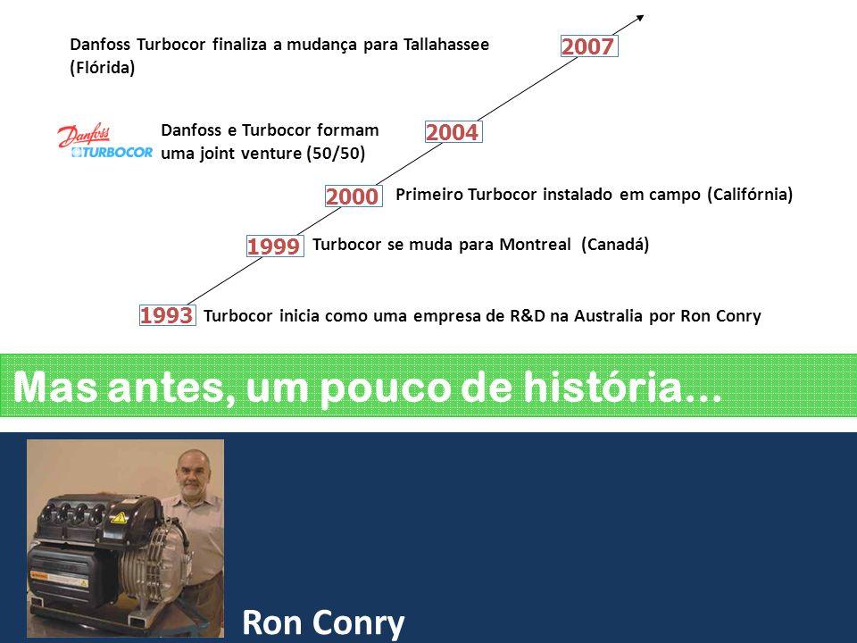 Instalações Novas? Como decidir? 1993 Turbocor inicia como uma empresa de R&D na Australia por Ron Conry 1999 2000 2004 2007 Turbocor se muda para Mon