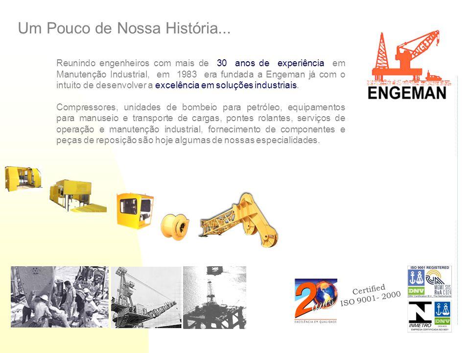 Certified ISO 9001- 2000 Um Pouco de Nossa História... Reunindo engenheiros com mais de 30 anos de experiência em Manutenção Industrial, em 1983 era f