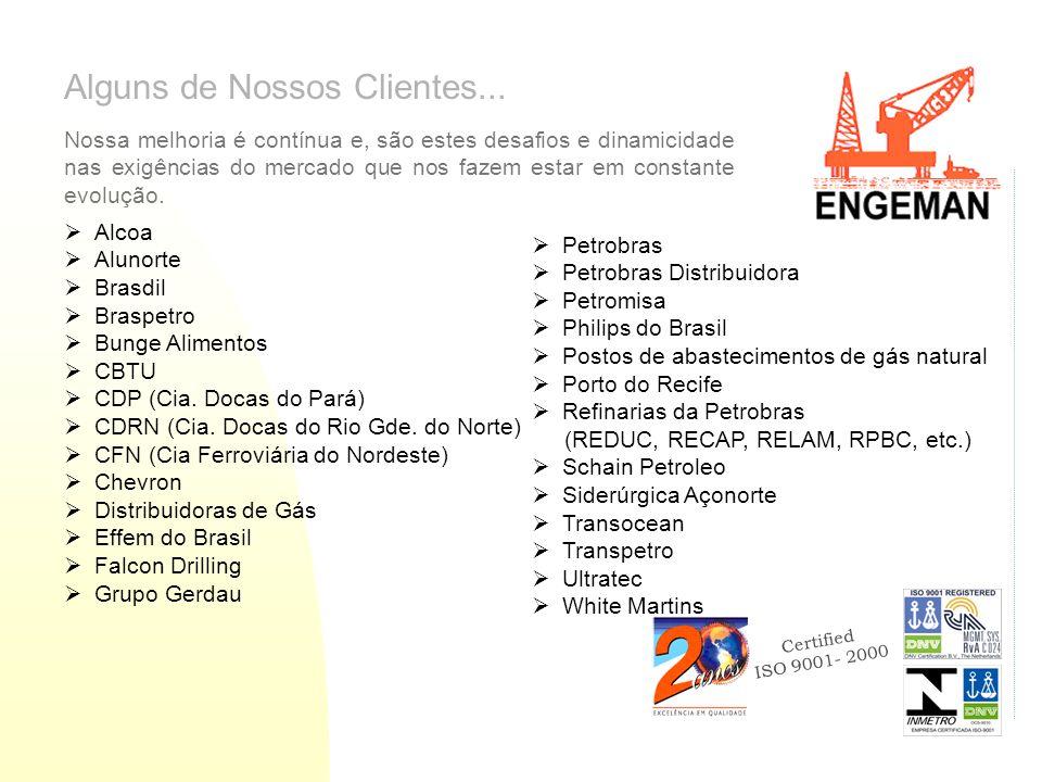 Certified ISO 9001- 2000 Alguns de Nossos Clientes...