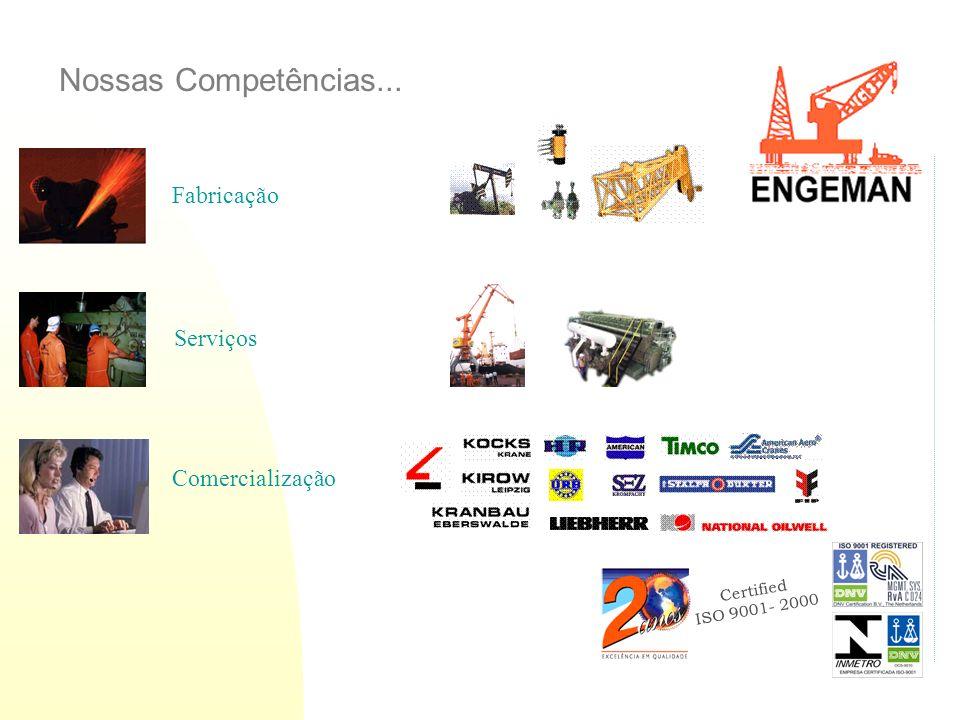 Certified ISO 9001- 2000 Fabricação Comercialização Serviços Nossas Competências...