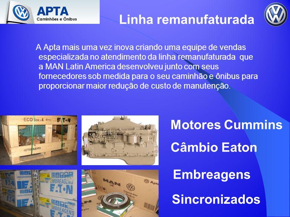 Linha remanufaturada A Apta mais uma vez inova criando uma equipe de vendas especializada no atendimento da linha remanufaturada que a MAN Latin Ameri