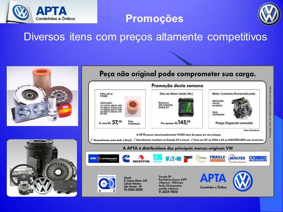Diversos itens com preços altamente competitivos Promoções