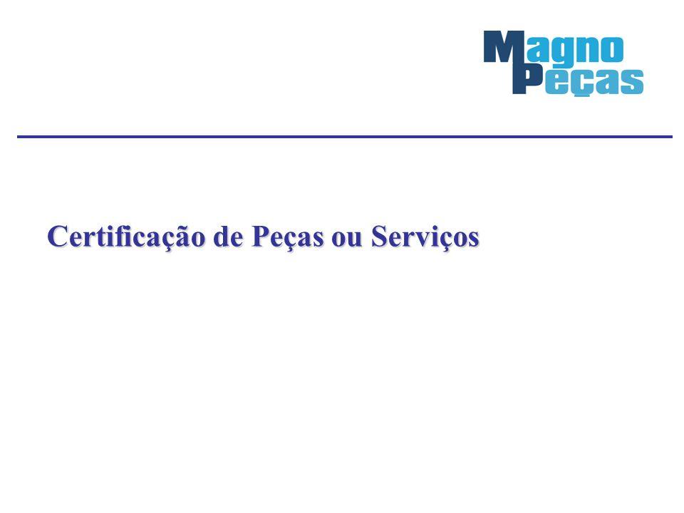Certificação de Peças ou Serviços