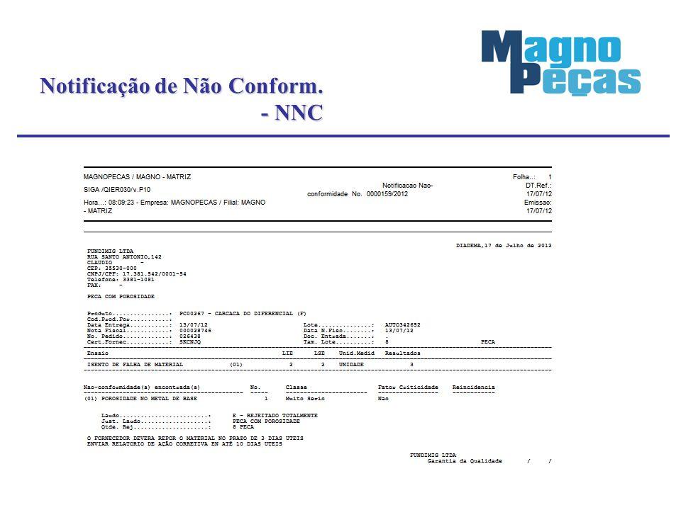 Notificação de Não Conform. - NNC - NNC
