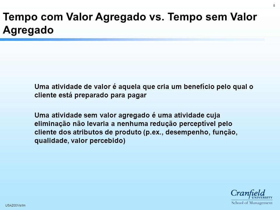 6 USA2001/sltm Tempo com Valor Agregado vs.