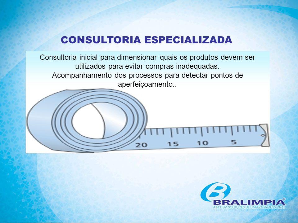 CONSULTORIA ESPECIALIZADA Consultoria inicial para dimensionar quais os produtos devem ser utilizados para evitar compras inadequadas. Acompanhamento