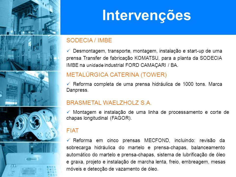 SODECIA / IMBE Desmontagem, transporte, montagem, instalação e start-up de uma prensa Transfer de fabricação KOMATSU, para a planta da SODECIA IMBE na unidade industrial FORD CAMAÇARI / BA.