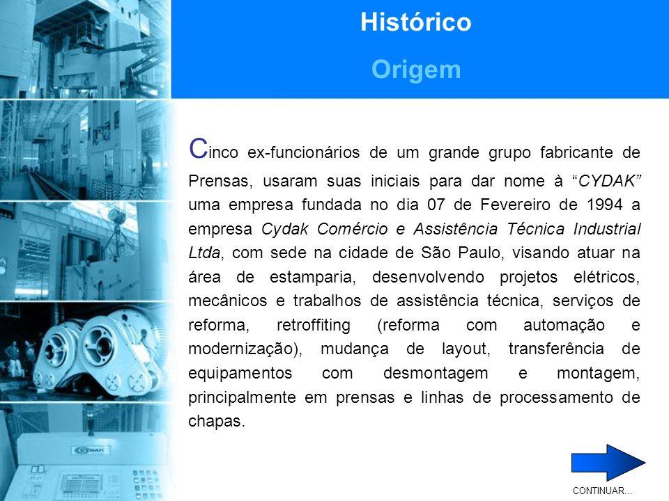 Histórico Origem Em 12 de Outubro de 1996 suas instalações foram transferidas para a cidade de São Bernardo do Campo, onde dispunha de um escritório que funcionava como base administrativa e comercial, onde era também o berço de projetos e dos desenvolvimentos da empresa.