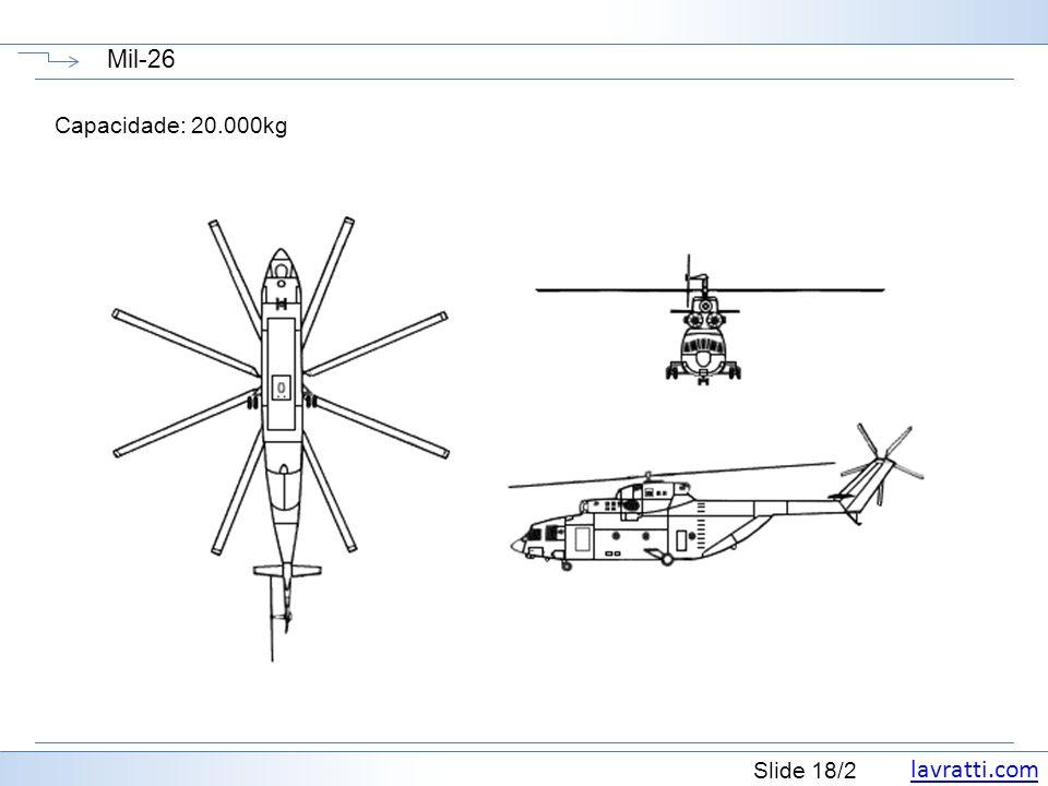lavratti.com Slide 18/2 Mil-26 Capacidade: 20.000kg