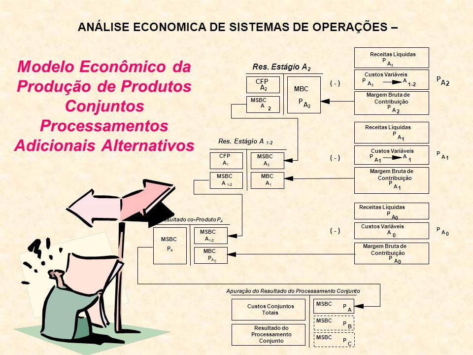 Modelo Econômico da Produção de Produtos Conjuntos Processamentos Adicionais Alternativos ANÁLISE ECONOMICA DE SISTEMAS DE OPERAÇÕES –