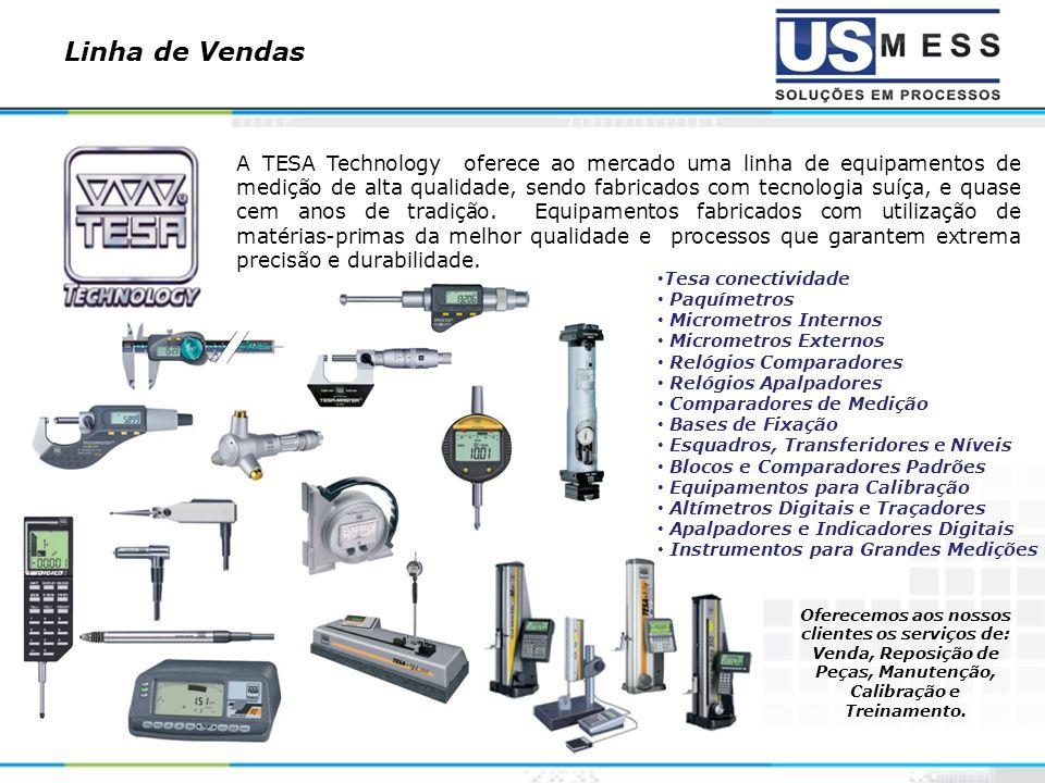 Linha de Vendas Baseado na construção de dois modelos de eletrônicas de medição, com entrada de 1 até 8 canais de medição.
