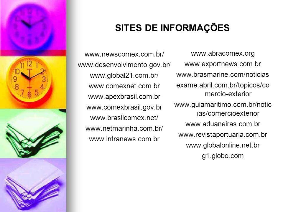 www.newscomex.com.br/ www.desenvolvimento.gov.br/ www.global21.com.br/ www.comexnet.com.br www.apexbrasil.com.br www.comexbrasil.gov.br www.brasilcome