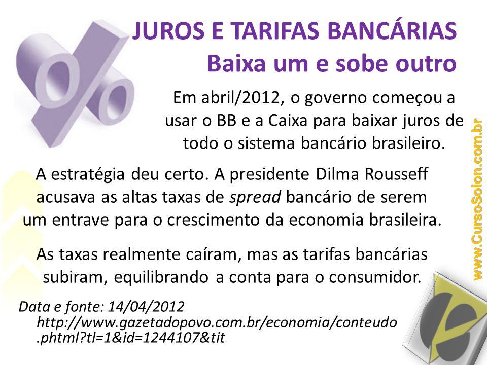 A estratégia deu certo. A presidente Dilma Rousseff acusava as altas taxas de spread bancário de serem um entrave para o crescimento da economia brasi