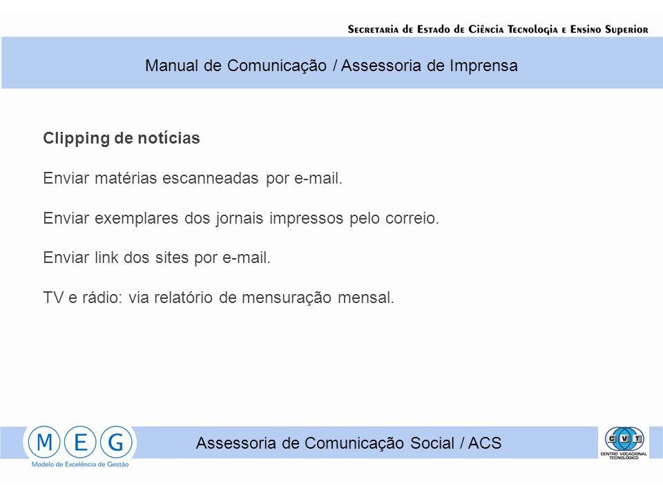 Clipping de notícias Enviar matérias escanneadas por e-mail.
