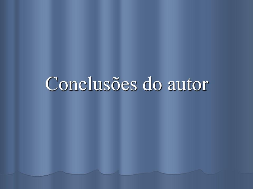 Conclusões do autor