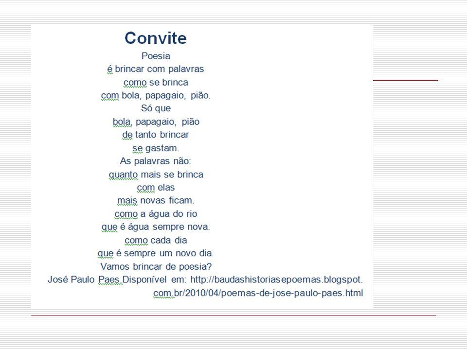 Vale consultar: Materiais do Cenpec – Olimpíadas de Língua Portuguesa - www.cenpec.org.br/ O projeto Tertúlia literária - www.ceale.fae.ufmg.br/tertulia- literaria-1.html